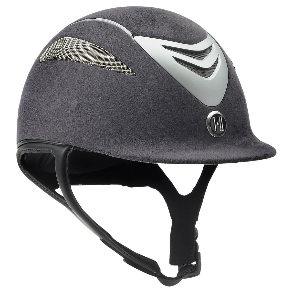 NEW NAVY BLUE VELVET with RHINESTONES English Equestrian Riding Helmet Cover