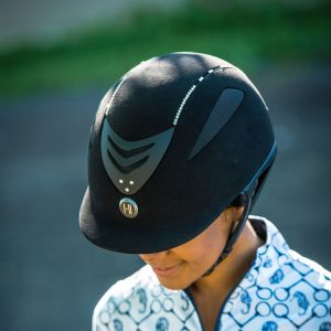 Defender Suede Helmet with Swarovski Stones